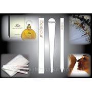 Изготовление и печать фирменных блоттеров для парфюмерии с логотипом фото