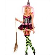Ярко-розовый костюм ведьмочки ML-70273 фото