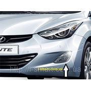 Противотуманные фары Hyundai Elantra MD + проводка + крепление + лампы + кнопка фото