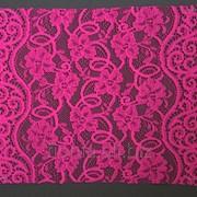 Кружево эластичное Chanty цвет 06Х-2 ярко-розовый артикул 66078 фото