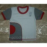 0215-10 Футболка с имитацией кармана Стрейч фото
