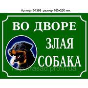 Табличка злая собака купить фото