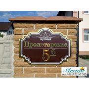 Домовой знак «Модерн» цвет темно-коричневый ( черный шоколад) фото
