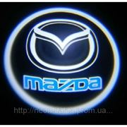 Подсветка дверей авто / лазерная проeкция логотипа Mazda | Мазда фото
