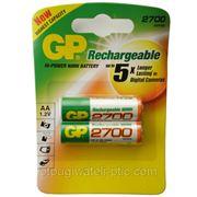 Аккумуляторные батарейки GP 2700 АА 1.2v фото