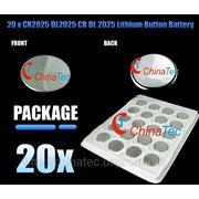 CR2025 DL2025 CR-2025 литиевая таблетка батарея фото