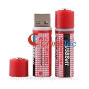 2 х 1450 мАч аккумуляторная батарея AA USBBatt фото