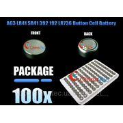 100 х AG3 LR41 SR41 392 192 LR736 литиевая таблетка батарея 1,5 В фото