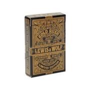 """Карты игральные Miland """"Lewis & Wolf"""" gold, 54 шт./колода, индивид. уп., ИН-3829 фото"""