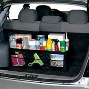 Автосумка - органайзер Bag 050 складная (72х23х23см) (3 отделения) черная фото