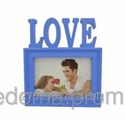 Фоторамка Любовь синяя фото