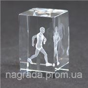 Награда стеклянная с 3D гравировкой Бег KR5080/RUN фото