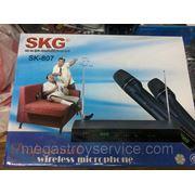 Микрофон, радиомикрофон SKG SK-807 на два микрофона фото