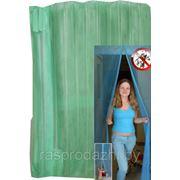 Дверная антимоскитная сетка на магнитах 90 х 210 см цвет: зеленый фото