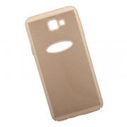 Защитная крышка для Samsung J5 Prime «LP» Сетка Soft Touch (золотая) европакет фото