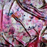 Атлас-стрейч набивной «Швис» (абстракция) фото
