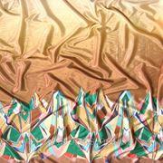 Атлас-стрейч набивной «Швис» (купон) фото