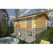 Четырехкомнатный дом на участке с рельефом 146,4 м2 «Парадовка» фото