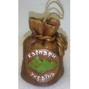 Украинский сувенир колокольчик мешок с достопримечательностями фото