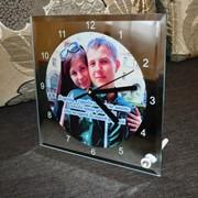 Зеркальные часы с фото фото