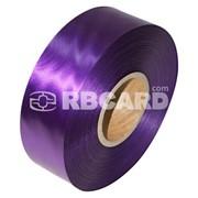 Печать на фиолетовой сатиновой ленте фото