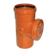 Ревизия канализационная ПП Ø110 оранжевая с крышкой фото