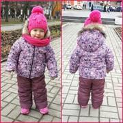 Детский зимний комплект: куртка с комбинезоном, в расцветках фото