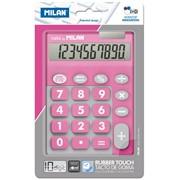 Калькулятор Milan настольный, 10 разрядный,, TOUCH DUO Rubber Touch, розовый фото