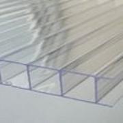 """Сотовый поликарбонат Carboglass прозрачный """"Standart"""" 6000х2100 мм, 4 мм с односторонней защитой от УФ, гарантия 15 лет фото"""