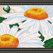 """Рисунок на ткани для вышивания бисером """"Ромашка"""" VKA4107 фото"""
