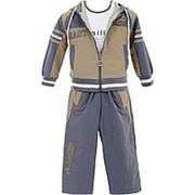 Модный костюм серо-коричневого цвета 10 фото
