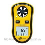 Цифровой крыльчатый анемометр GM8908 (Прибор для измерения скорости ветра) с одновременным измерением температуры воздуха. фото