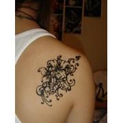 Временная татуировка хной фото