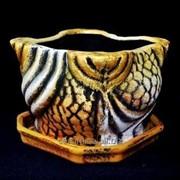 """Горшок для цветов из керамики ручной работы """"Зефир"""" фото"""