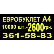 Буклет, евробуклет А4 10000 штук — 2600 грн. фото