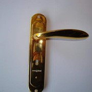 Ручка BARRERA H-S-85-04-00-G-AL к замкам ЭЛЬБОР 1.04.27 хром золото сатен фото