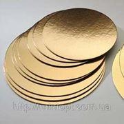 Подложка двусторонняя серебро/золото 28 см фото