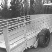 Трап тележка ТТС-Ф-2 в опущенном положении фото