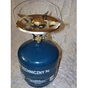 Газовый баллон с горелкой ВТ-3 Польша (7,2л) +чугунная гриль пластина фото