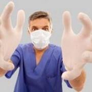 Перчатки медицинские латексные фото
