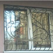 Металлическая решетка на окно №7 фото