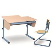 Парта Астек ТВИН 1 (парта 120 см +стул фанера) фото