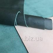 Натуральная кожа для кожгалантереи зеленая арт. СК 2051 фото