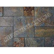 Тротуарный камень Рустик, коричневый фото
