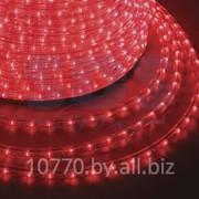 Дюралайт светодиодный, постоянное свечение(2W), красный, 220В, бухта 100м фото
