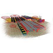 Линия по производству предизолированных труб в ППУ фото