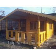 Дом из профилированного бруса 6х4 м. Купить в Горловке фото