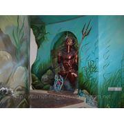 Роспись стен декор помещений фото