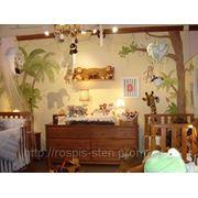 Дизайн и художественная роспись стен детской комнаты фото