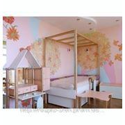 Детская спальня Роспись стен и потолка фото